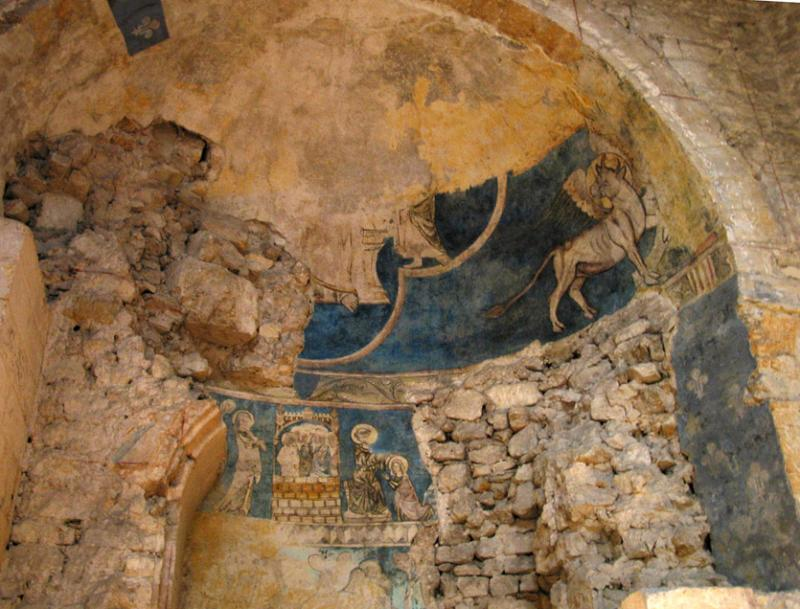 Early church fresco