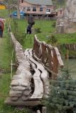 Handhewn Wooden Walk