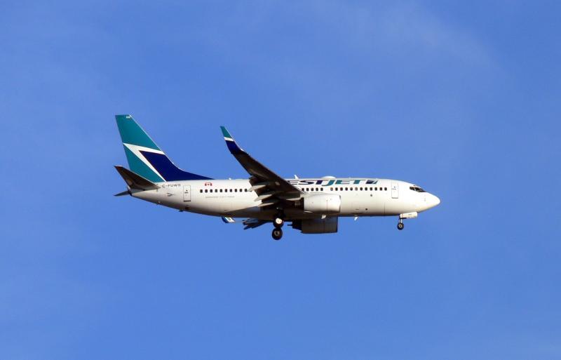 Westjet flight landing....