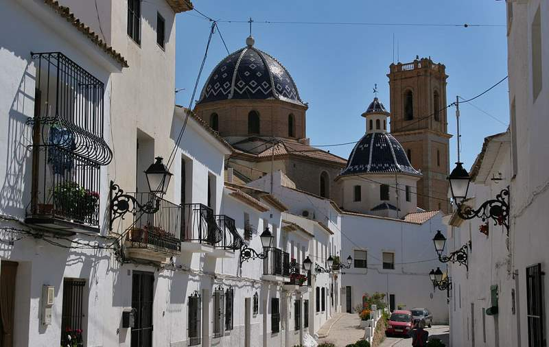 Altea,historical centre