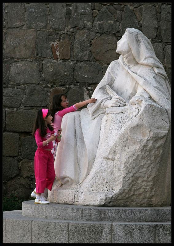 Avila,monument of Teresa of Avila