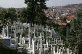 Bosnia,Sarajevo,graveyard on the hill