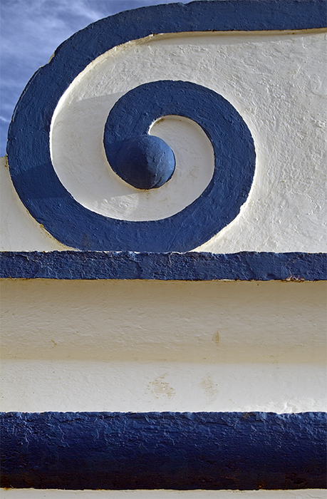 Just blue and white spiral