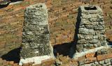 Old twins chimneys