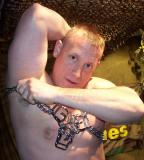 Muscle Leather Boy Cub Posing in Leather Chains Bondage BDSM Gear Fetish Gallery