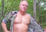 Blond Retired Hairychest Army Redneck Daddy Campground Gay Camping Woods bear photo gallery