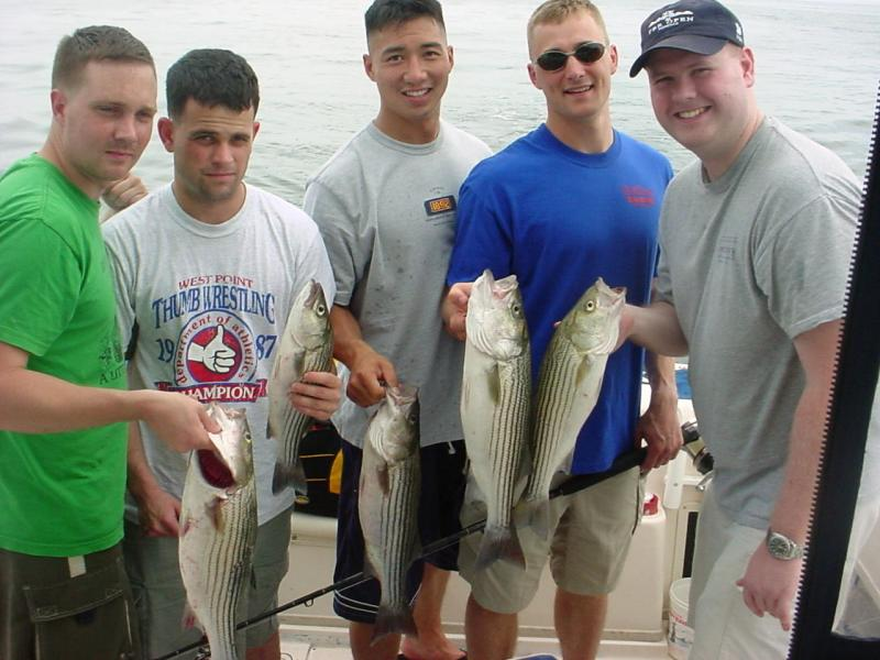 7/15/05- Andrew Dittoe Bachelor Party Charter - Great fishing with the Army Rangers!