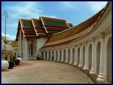 Phra Nakom Chedi - Curved first ring