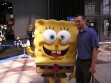 SpongeBob and some guy we don't know
