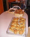 Scones out of the oven at Phils