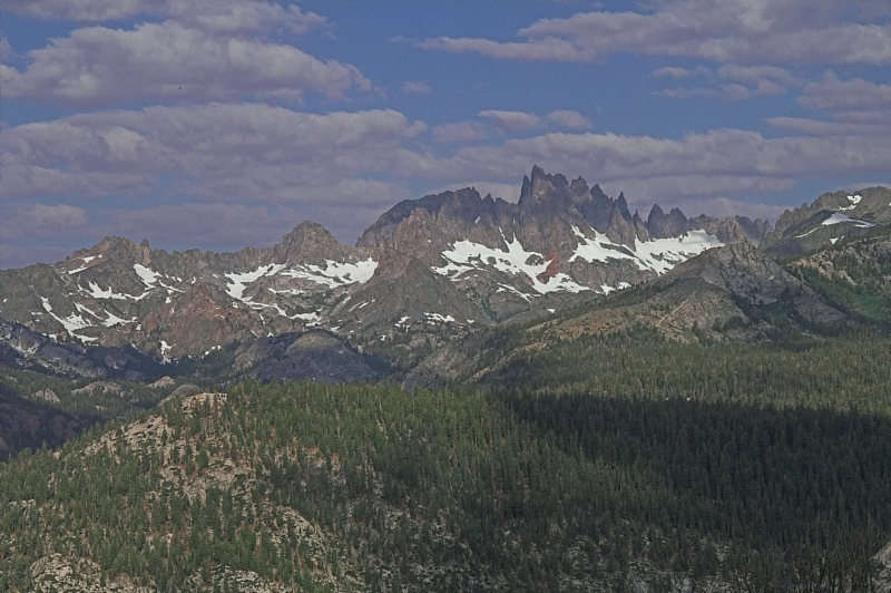 Minarets from Minaret Summit - Mammoth Mountain