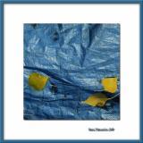 Blue plastic foil, Paris
