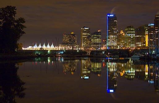Vancouver Skyline at Night 19214