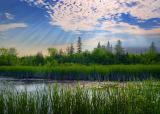 Marsh Sunrays 20050626