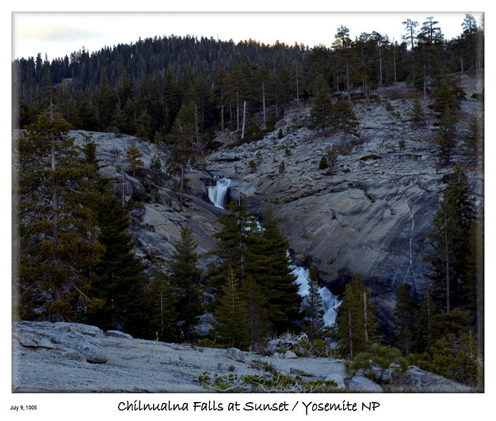 Chilnualna Falls at Sunset