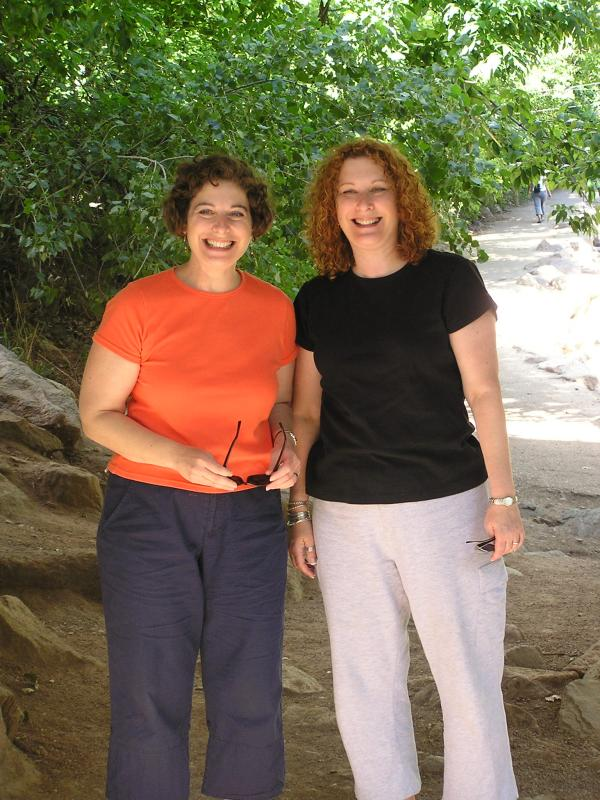 Carolyn and Frances at Boulder Creek