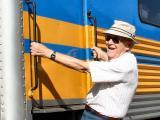 Walt, Hedda, Linda & Dave on the Sierra Train