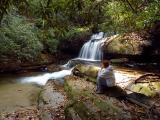 Dee at Upper Crow Creek Falls