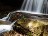 Gumby at upper Crow Creek Falls