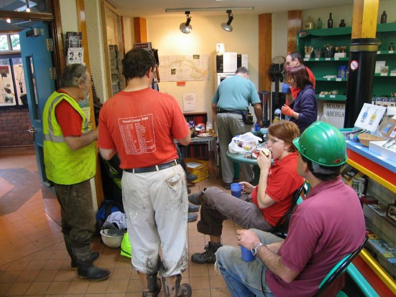 Breaks were held in the visitor centre