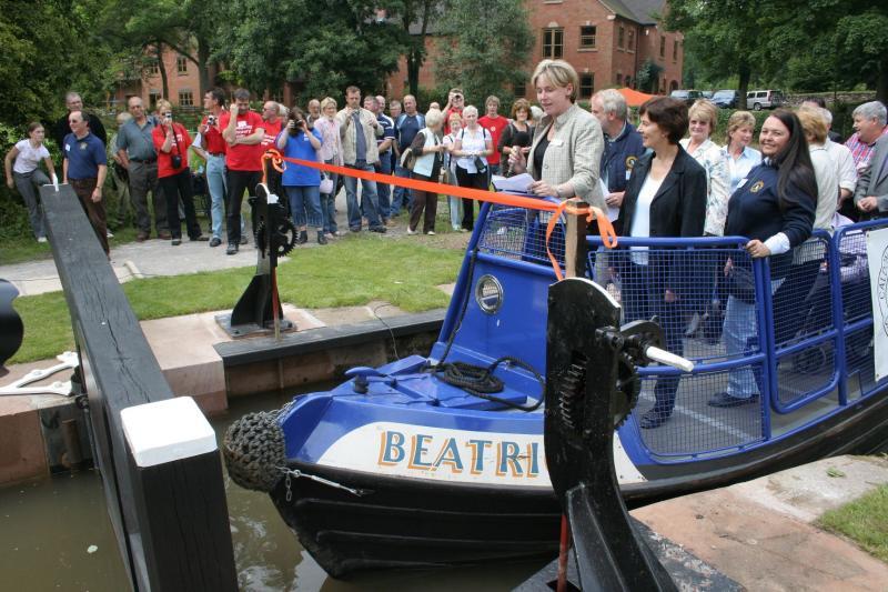 BW waterways manager Julie Sharman makes her speech ...