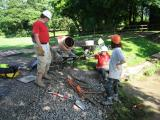 We clean the tools & go home - a successful dig