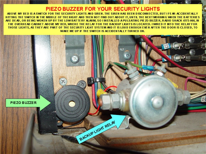 PIEZO BUZZER FOR SECURITY LIGHT SWITCH