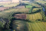 English countryside from the air
