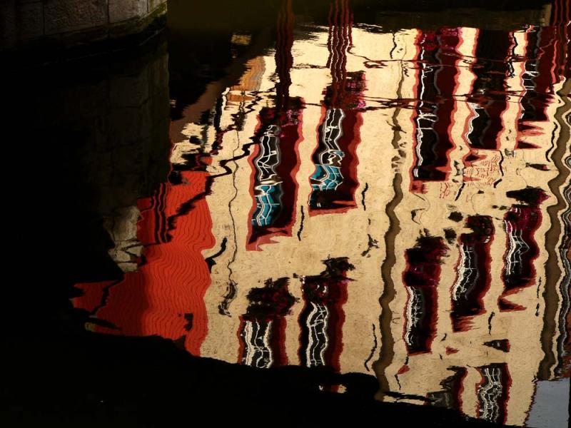 Reflection in water (2): Time Warp, Ghent, Belgium, 2005