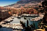 Typical Monaco parking lot