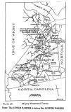Nansemond Co. VA Map abt. 1750