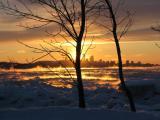 Québec au coucher du soleil