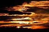 les nuages enflammés