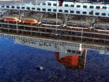 le reflet du Queen Mary 2