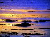 le reflet du coucher de soleil