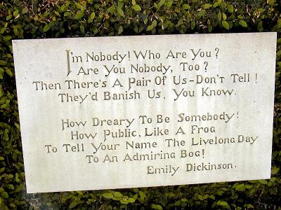 Im nobody! Who are you? by Emily Dickinson