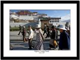 Pilgrims circling Potala in the morning