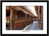 Prayer wheel alley/row inside Jokhang