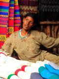 Textile market woman