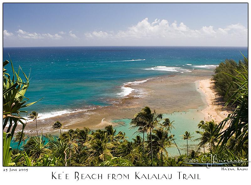 25Jun05 Kee Beach from Kalalau Trail