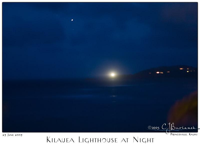 25Jun05 Kilauea Lighthouse at Night