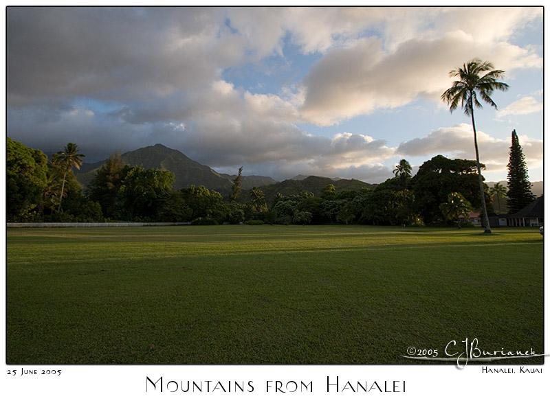 25Jun05 Mountains from Hanalei