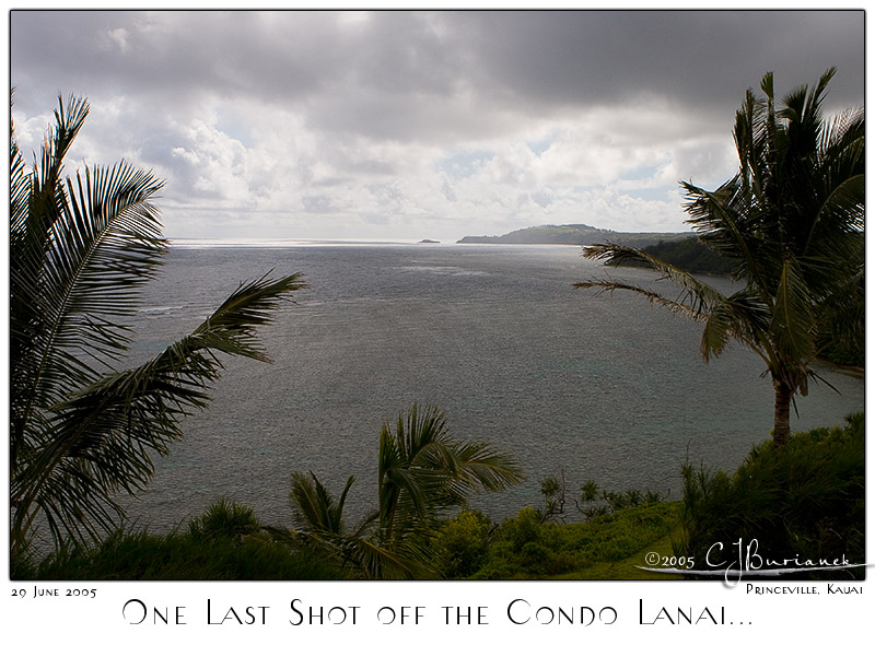 29Jun05 One Last Shot Off the Condo Lanai
