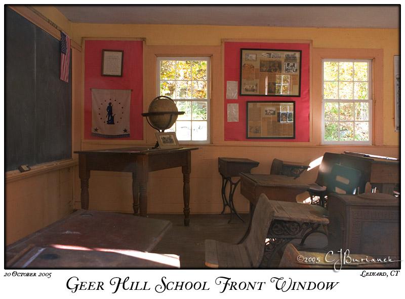20Oct05alt Geer Hill School Front Window - 6653
