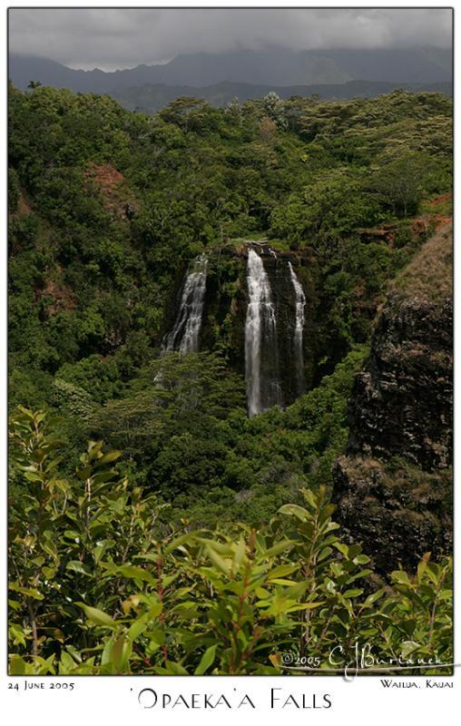 24Jun05 Opaekaa Falls
