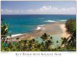 25Jun05 Ke'e Beach from Kalalau Trail