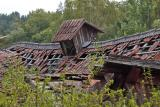 The collapsed barn