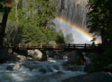 Morning Rainbow at Yosemite Falls