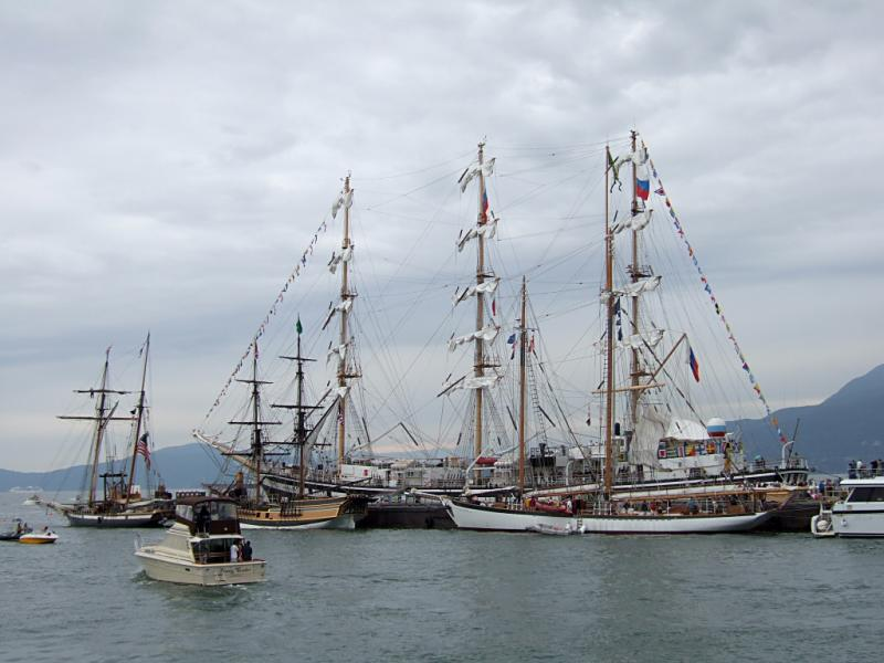 Departing Tall Ship Island