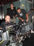 Setting up for a scene